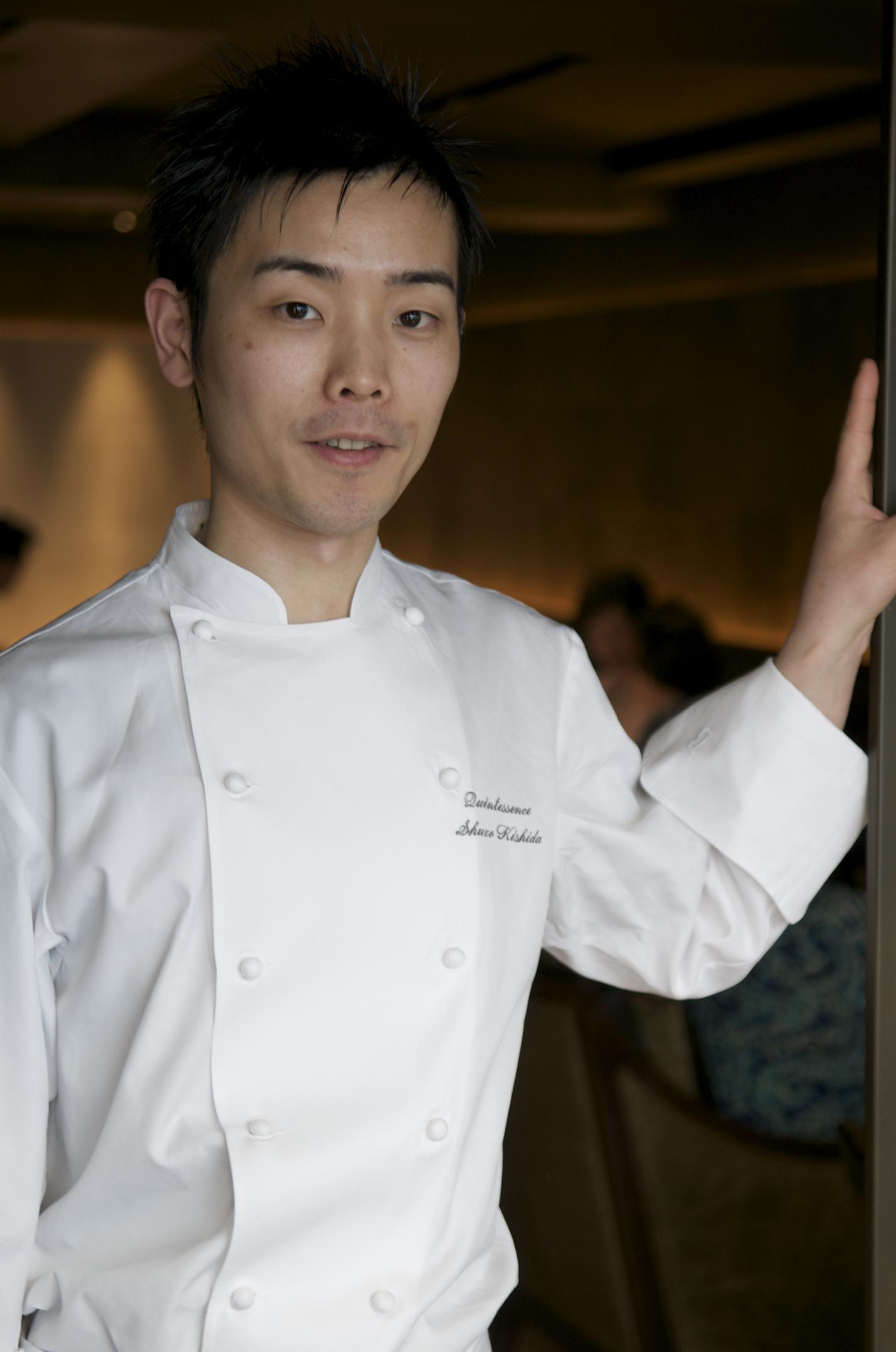 Chef Shuzo Kishida, Quintessence restaurant, Tokyo